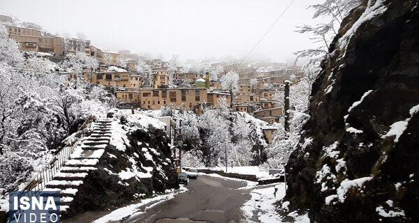 ویدئو / برف پاییزی در شهر تاریخی ماسوله