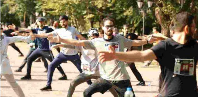 رویداد ورزشی شهرباران در باغ محتشم رشت برگزار شد